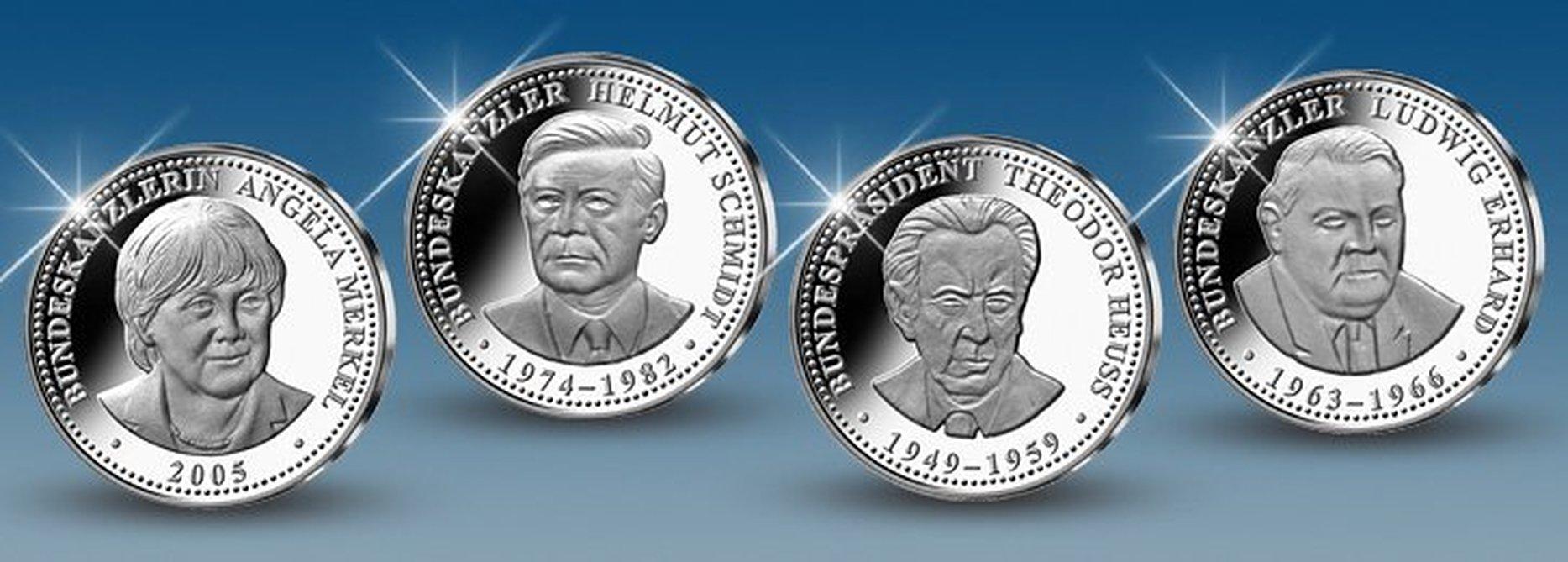 Kanzler und Präsidenten in Silber - Kollektion