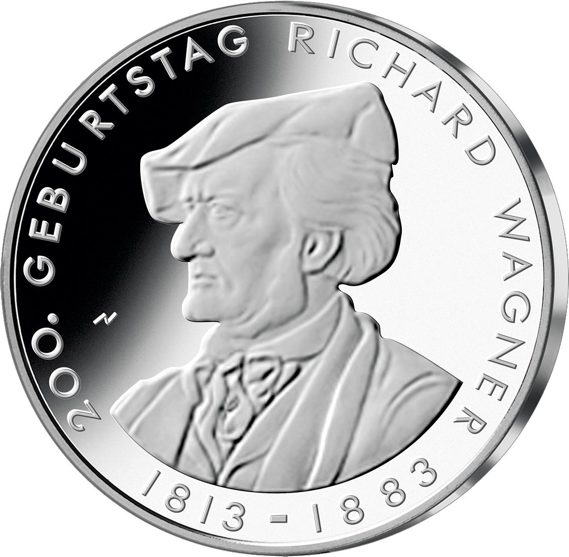 10 Euro Münze Brd Richard Wagner 2013 10 Euro Münzen Euro Münzen