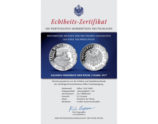 Silbermünze Friedrich Der Weise Mdm Deutsche Münze