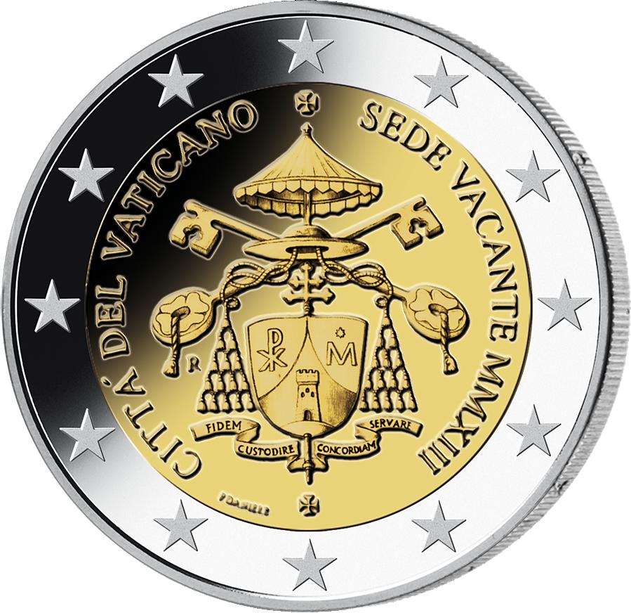 2 Vatikan 2013 Sedisvakanz Münzen Günstigerde