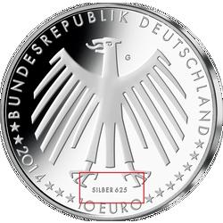 10 Euro Münze 2014 Fahrenheit Skala Mdm Deutsche Münze