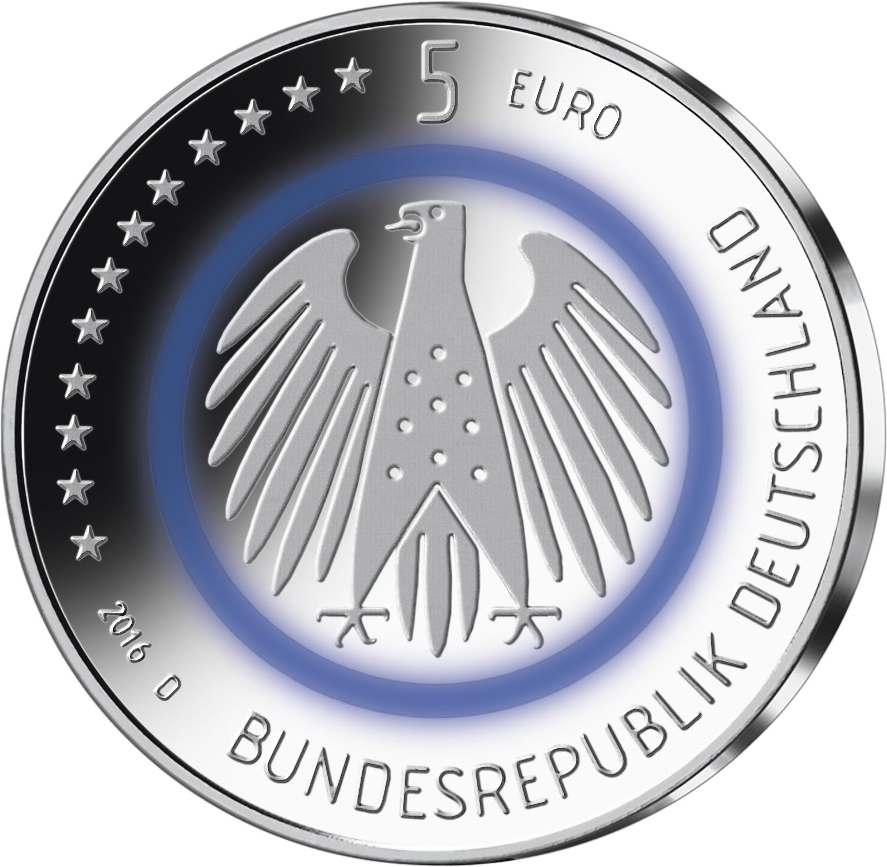 5 Euro Planet Erde Eigenes Blau Pro Prägestätte Mdm Deutsche Münze