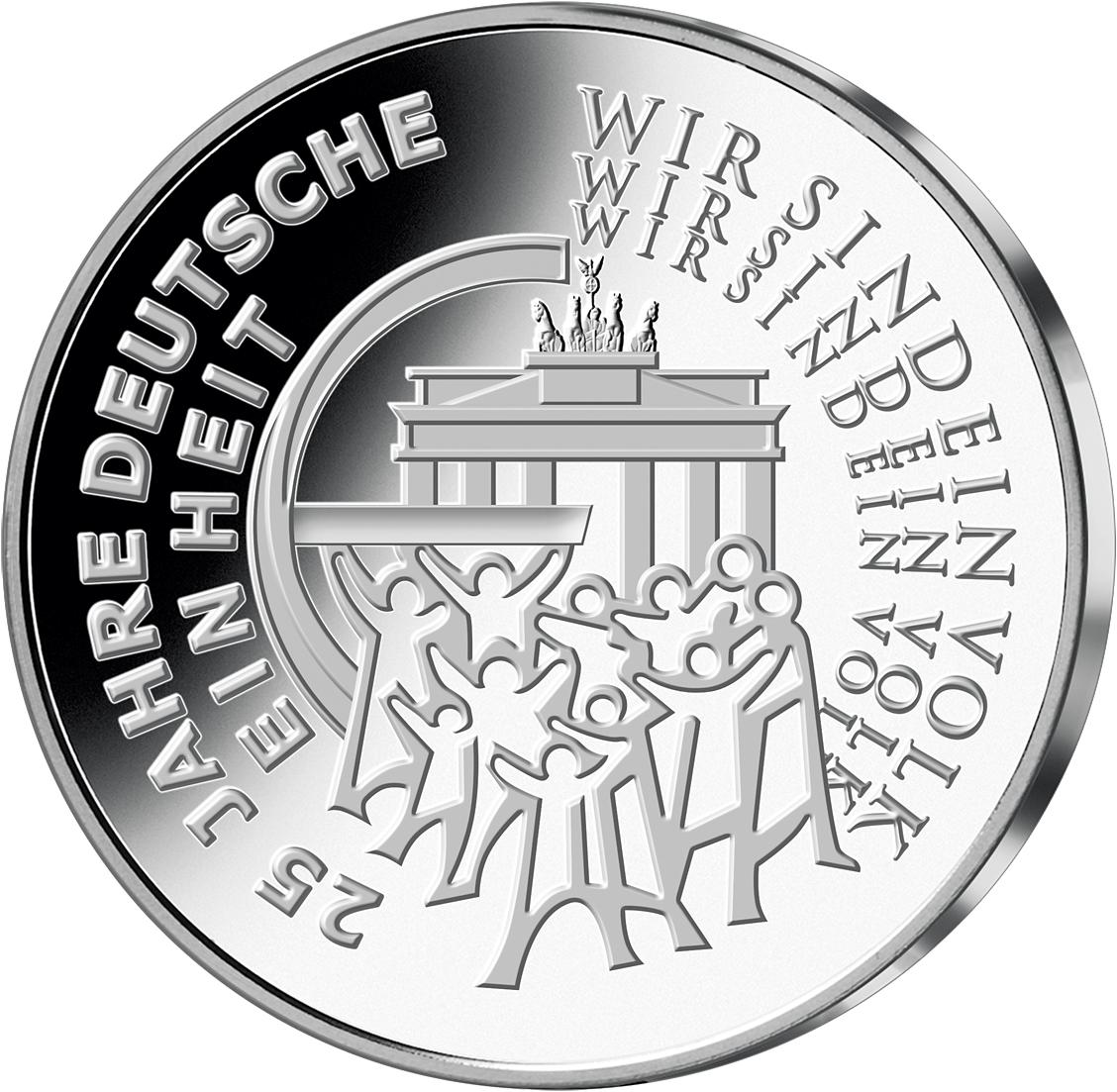 25 Euro Silber Münze 25 Jahre Einheit 2015 Münzen Günstigerde