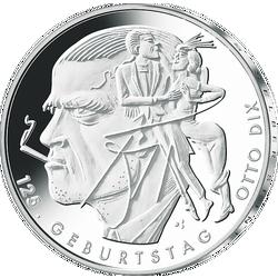 Silbermünze 125 Geburtstag Otto Dix Mdm Deutsche Münze
