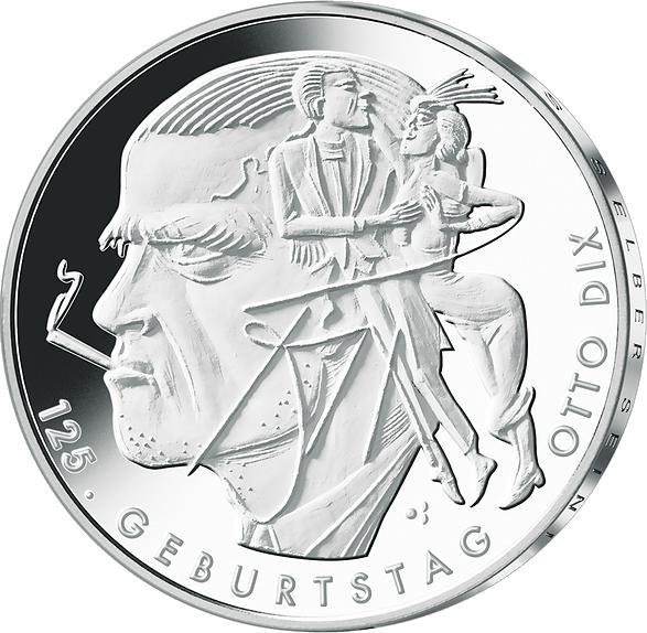 20 Euro Silber Münze Otto Dix 2016 St Silbermünzen Neuheiten