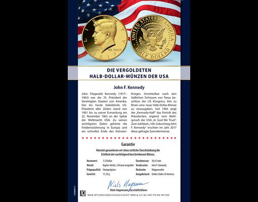 Die Vergoldeten Halb Dollar Münzen Der Usa Ihre Startlieferung