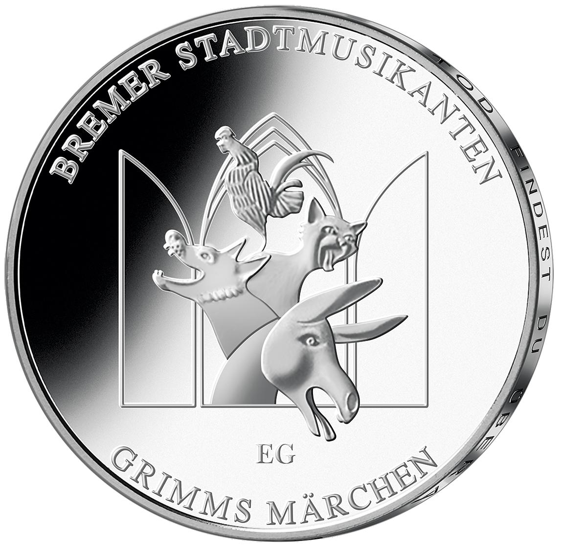 20 Euro Silber Münze Bremer Stadtmusikanten 2017 St Münzen