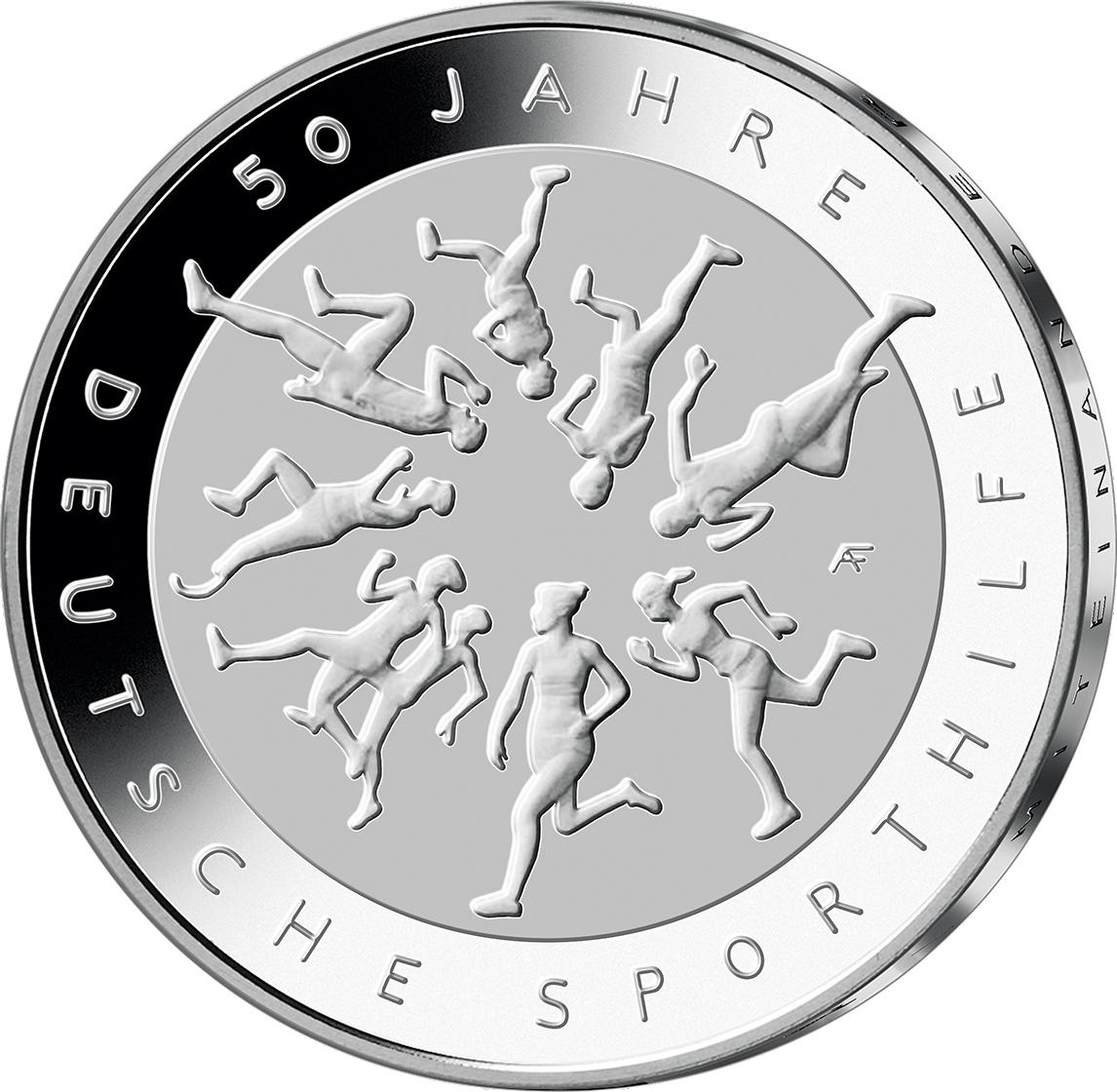 20 Euro Silber Münze Brd 2017 Deutsche Sporthilfe Pp Münzen