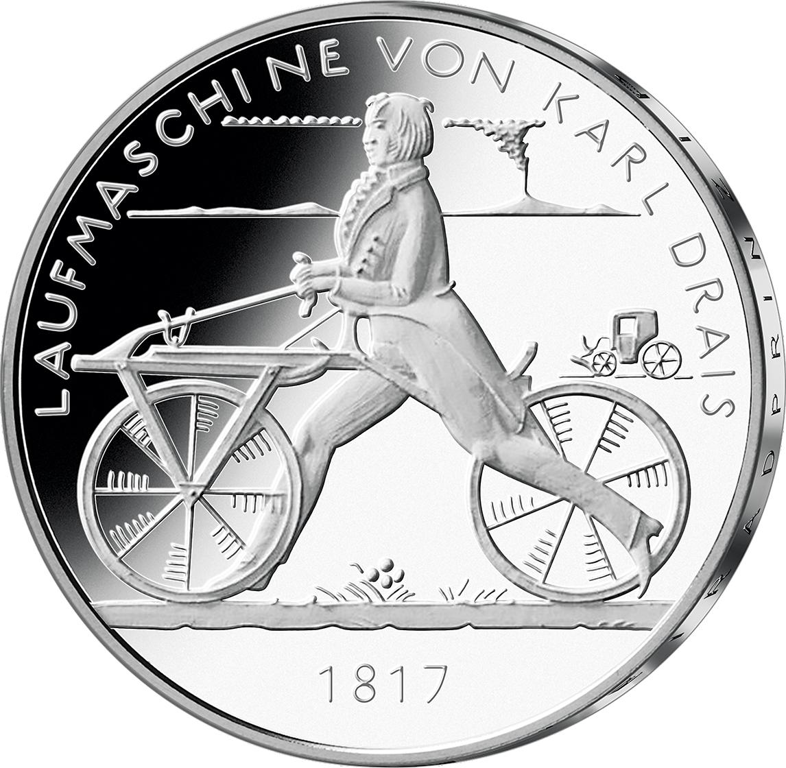 20 Euro Silber Münze Brd 2017 200 J Fahrrad Pp Münzen Günstigerde