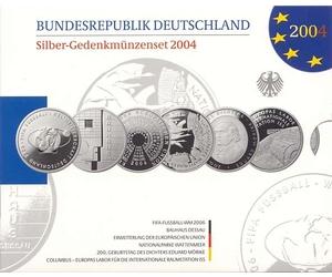 10 Euro Münzen Jahressatz 2004 Mdm Deutsche Münze