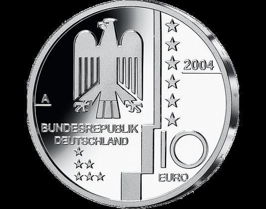 10 Euro Münze 2004 Bauhaus Dessau Mdm Deutsche Münze
