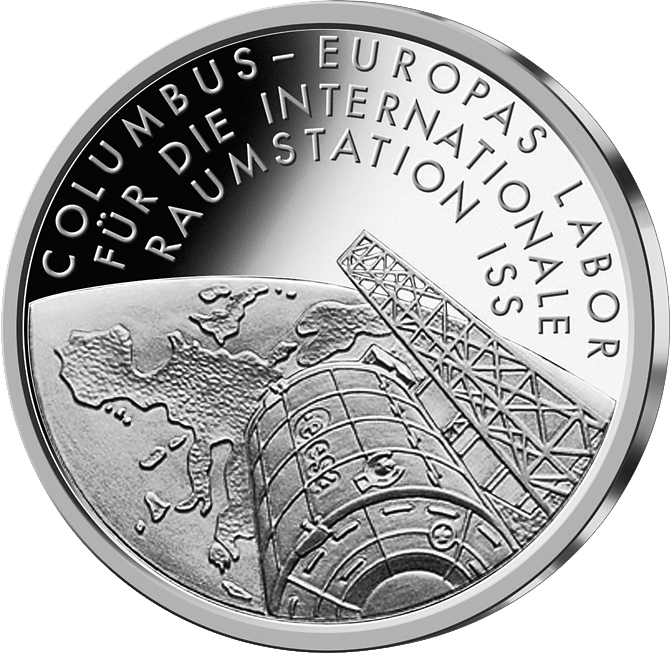 10 Euro Silber Münze Raumstation ISS 2004