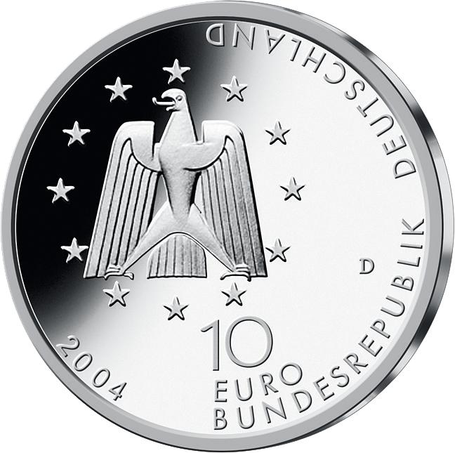 10 Euro Silber Münze Raumstation Iss 2004 10 Euro Münzen Euro