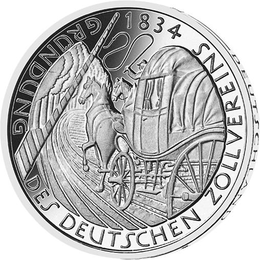 5 Dm Münze Zollverein Deutschland 1984 Münzen Günstigerde