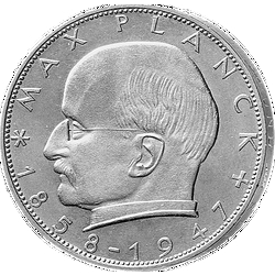 2 D-Mark Münze Max Planck