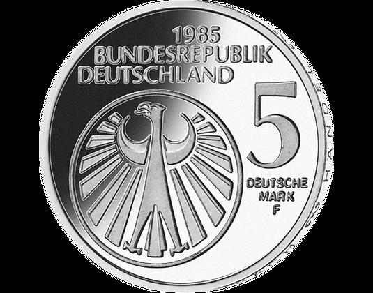 5 Dm Münze 1985 Europäisches Jahr Der Musik Mdm Deutsche Münze