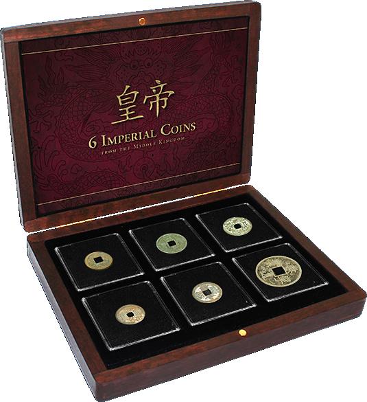 Historische Münzen 6 Chinesische Kaiser Kollektion Münzen