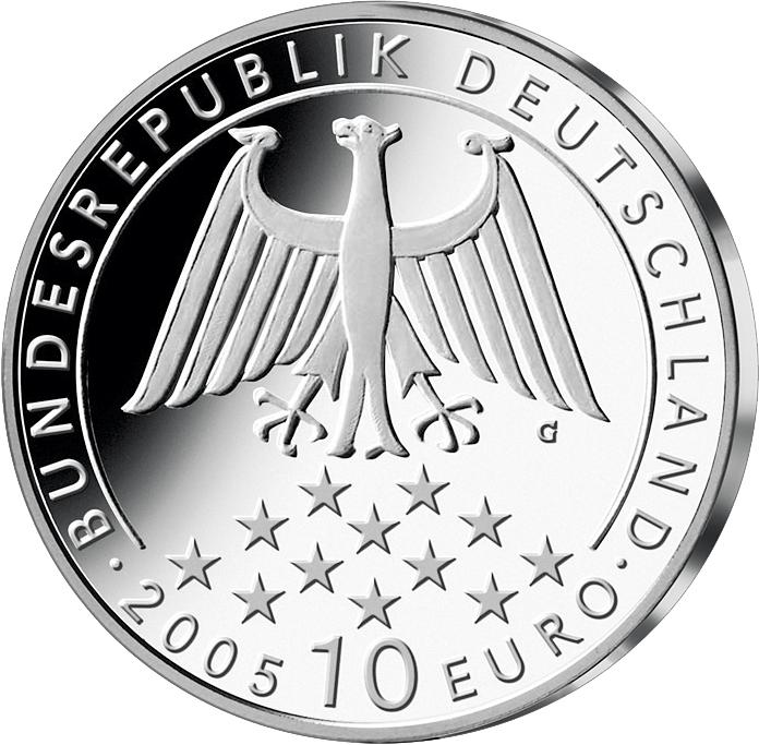 10 Euro Silber Münze Friedrich Schiller 2005 10 Euro Münzen Euro