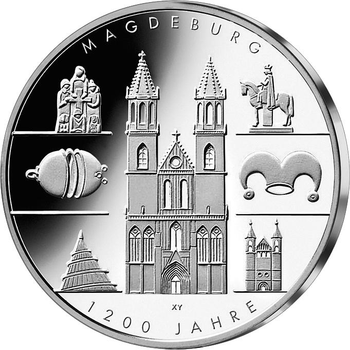 10 Euro Silber Magdeburg 2005 10 Euro Münzen Euro Münzen