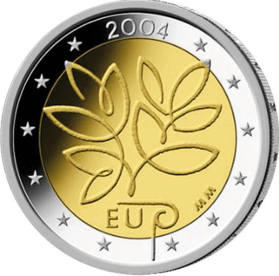 2 Euro Europ Union Finnland 2004 Münzen Günstigerde