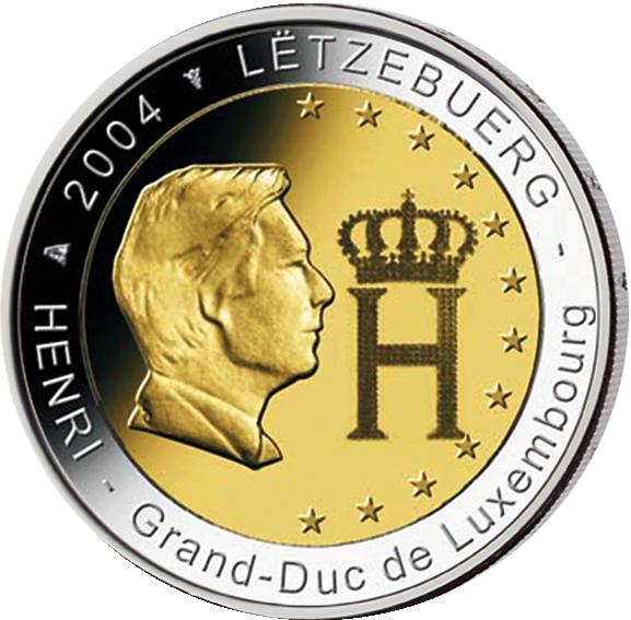 2 Euro Großherzog Henri Luxemburg 2004 Münzen Günstigerde