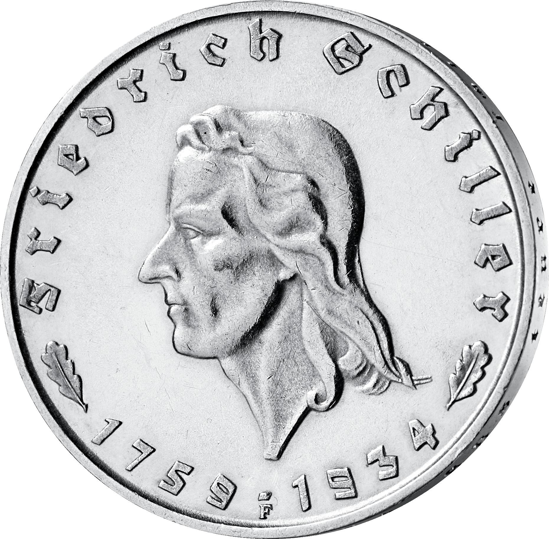 Silbermünzen Drittes Reich Mdm Deutsche Münze