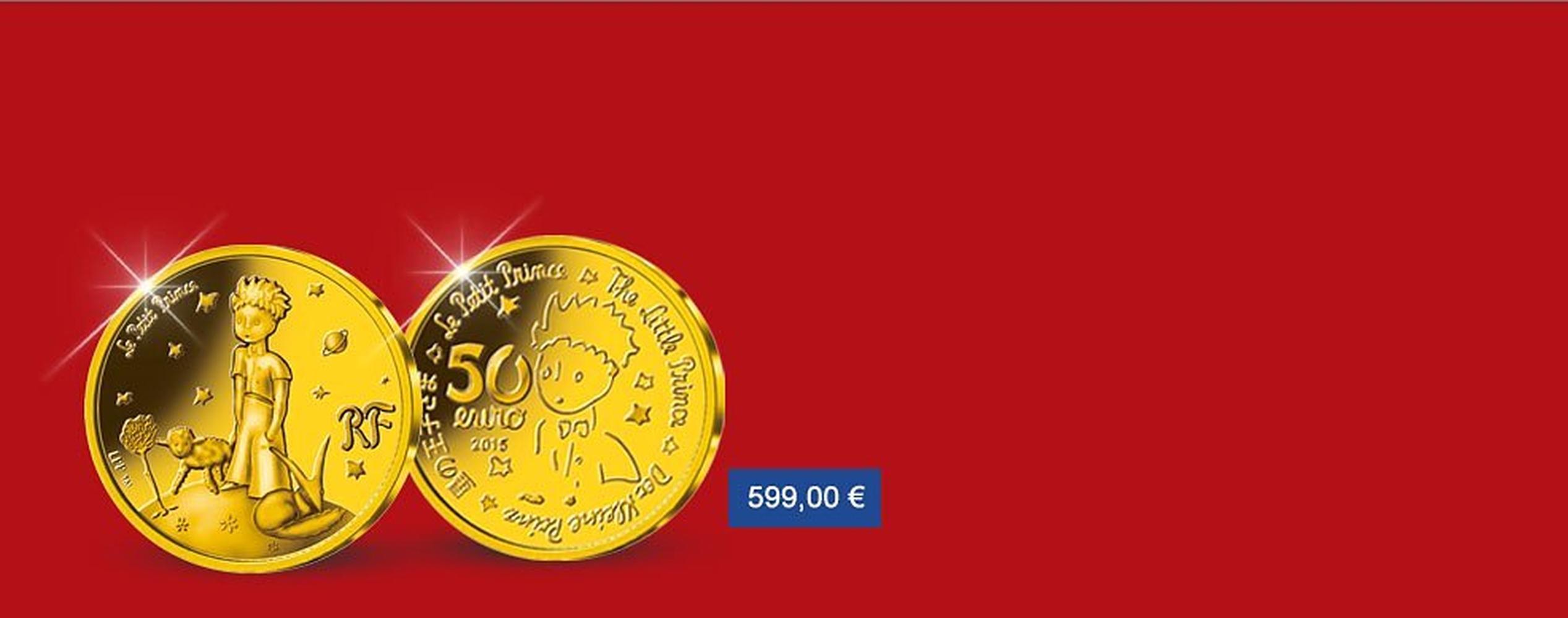 MDM - La monnaie de 50 euros en or Le Petit Prince
