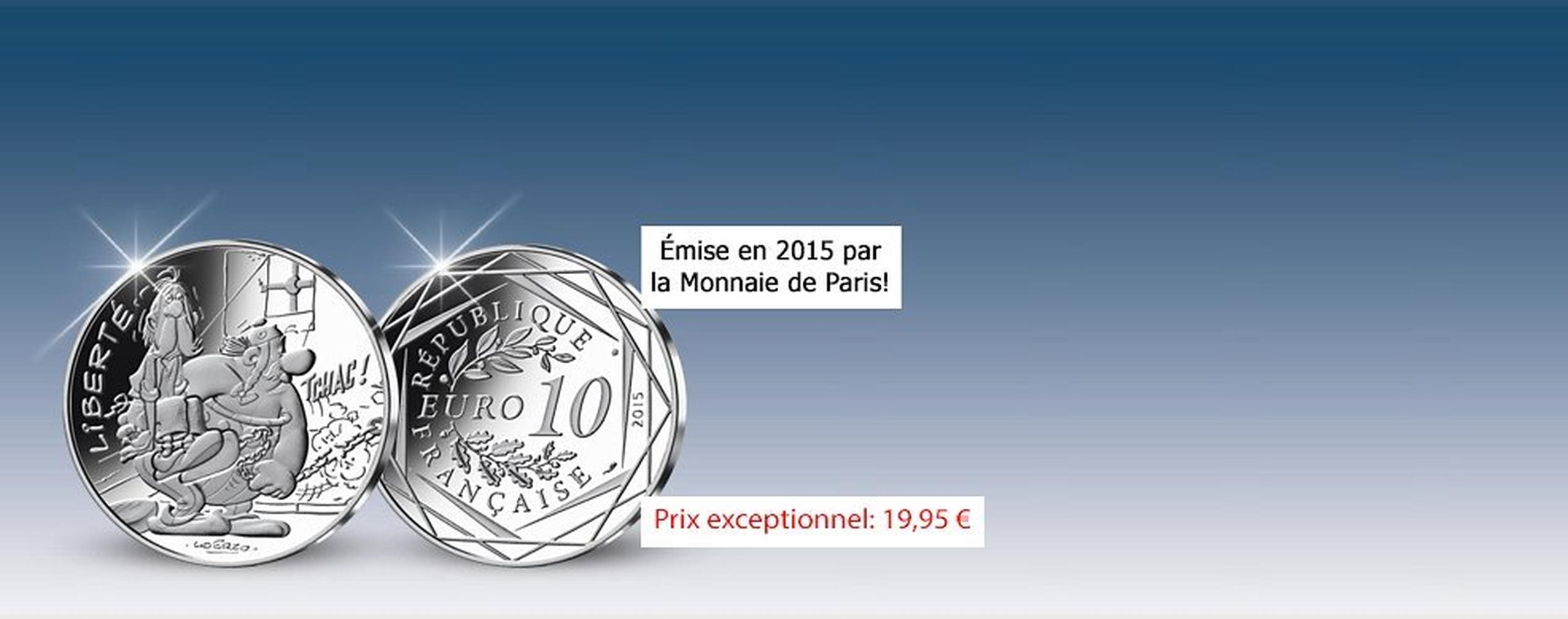 MDM - pièce 10 Euros Liberté Obélix - Astérix 2015