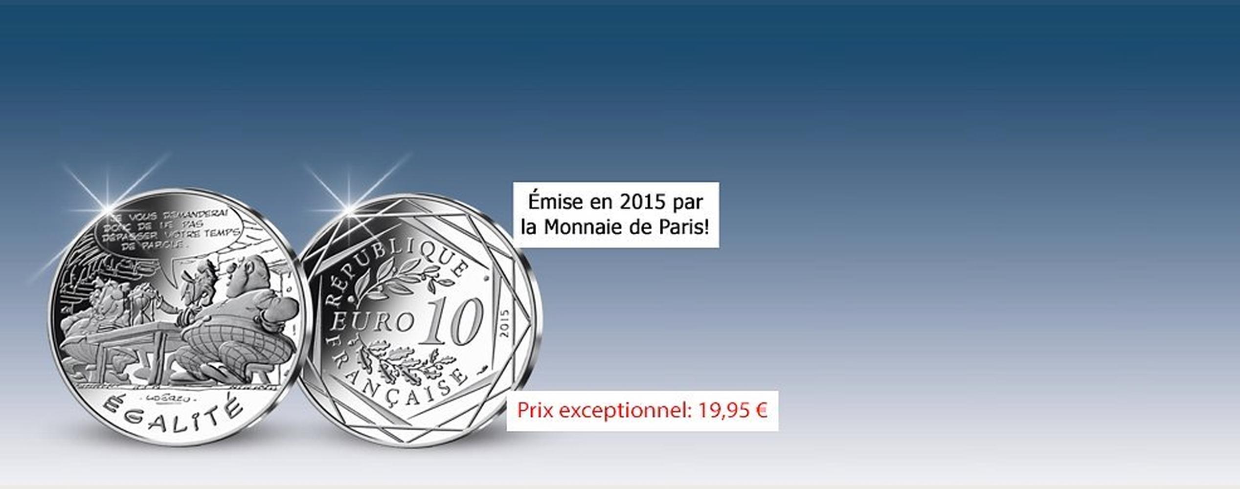 MDM - pièce 10 Euros Egalité Abraracourcix et Orthopédix