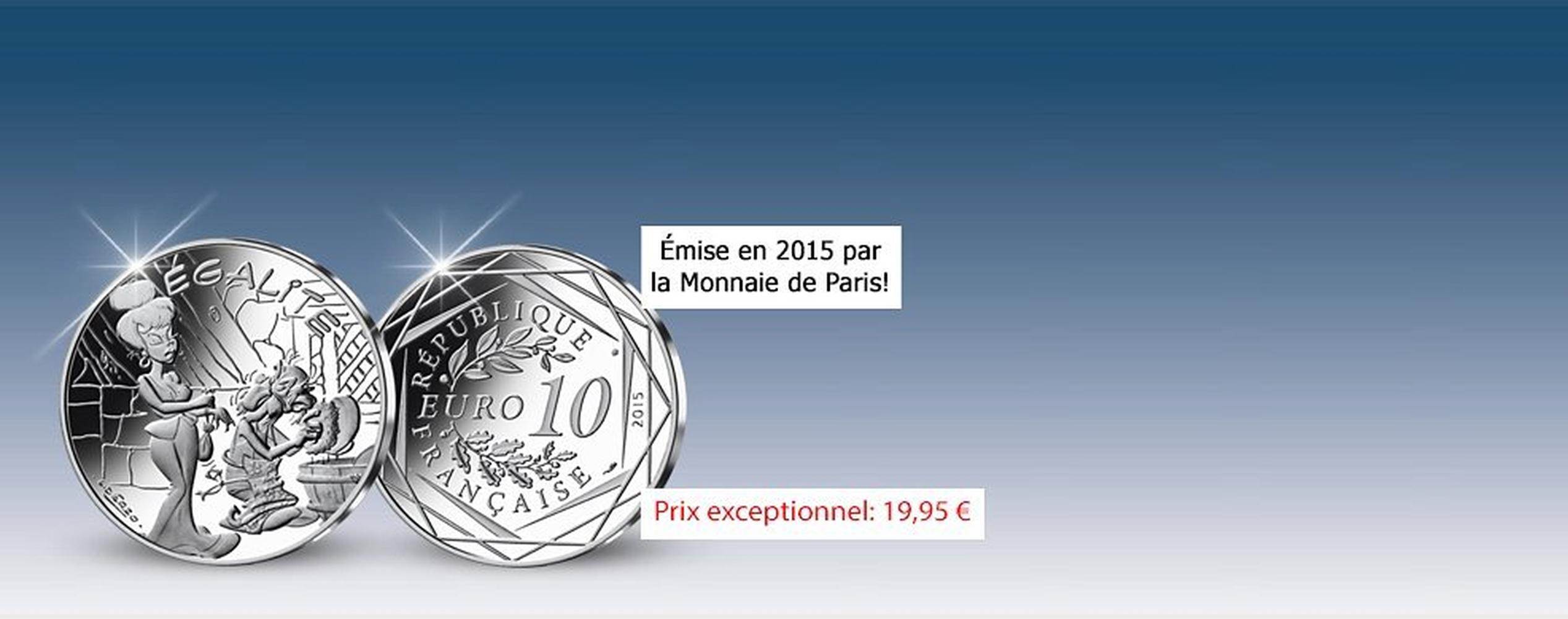 MDM - pièce 10 Euros Egalité Agecanonix - Astérix 2015