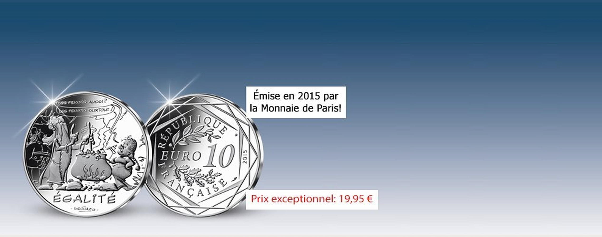 MDM - pièce 10 Euros Egalité Panoramix - Astérix 2015