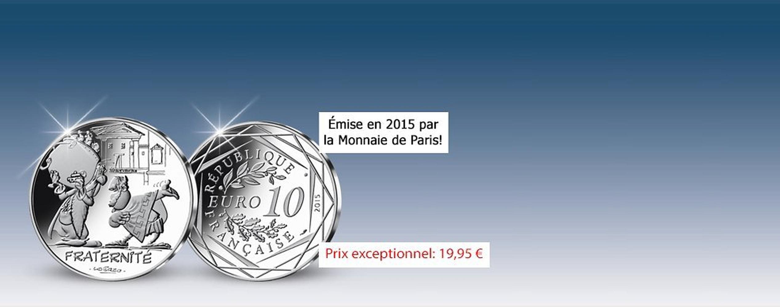MDM - pièce 10 Euros Fraternité Panoramix - Astérix 2015