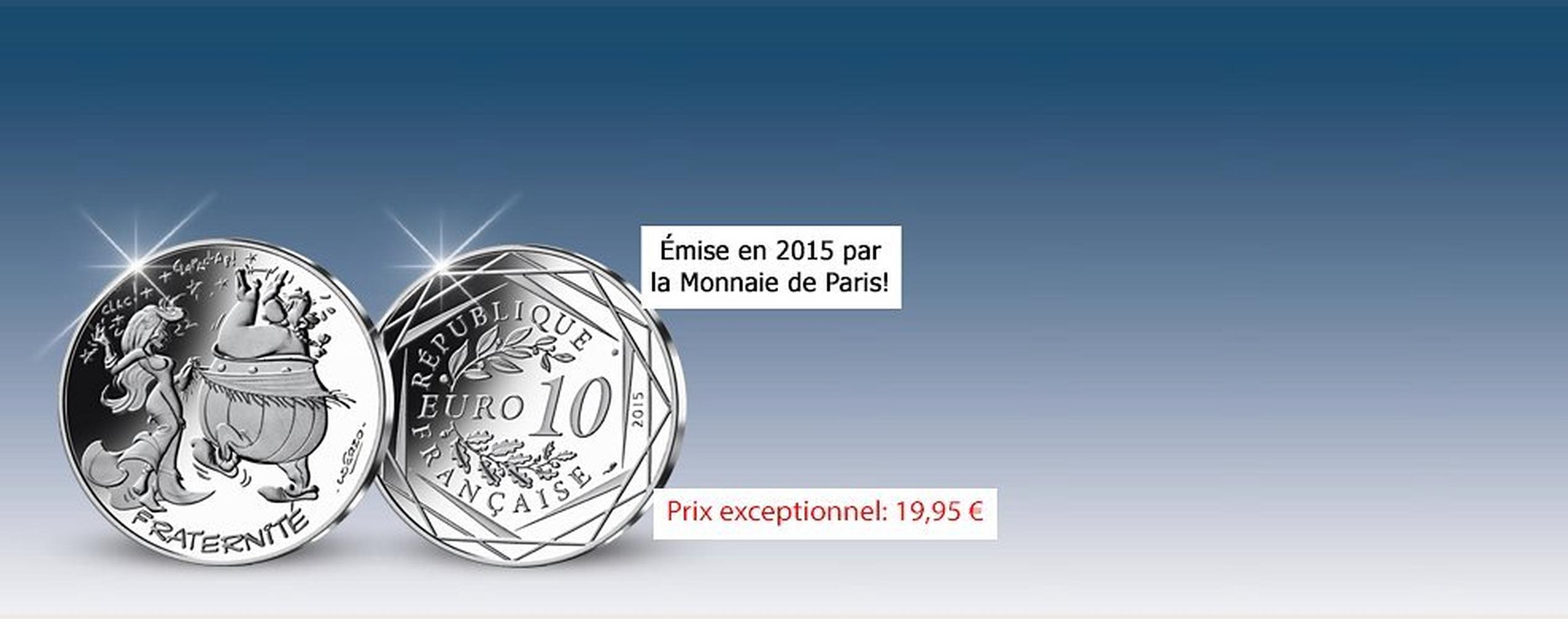 MDM - pièce 10 Euros Fraternité Obélix en Hispanie - Astérix 2015