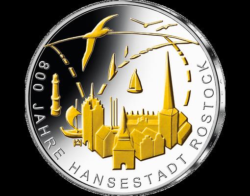 Deutsche Gedenkprägungen Startlieferung 800 Jahre Hansestadt