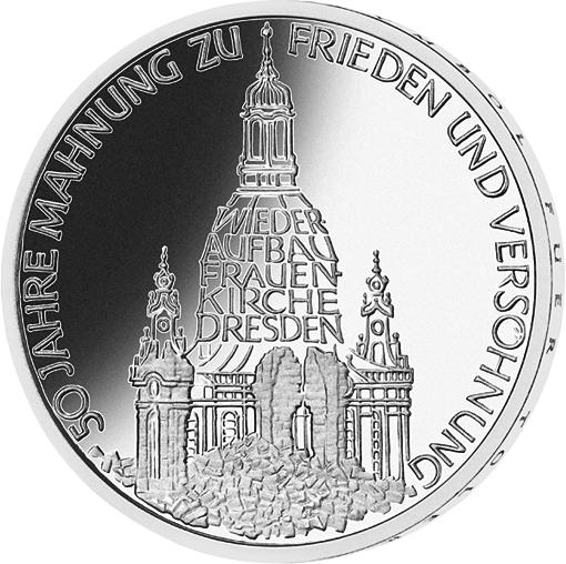 10 Dm Silber Münze Frauenkirche 1995 10 Dm Münzen Dm Münzen
