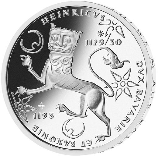 10 Dm Silber Münze Heinrich Der Löwe 1995 10 Dm Münzen Dm Münzen