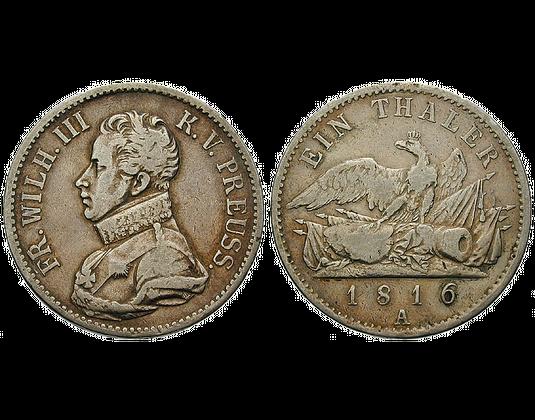 Altdeutschland Taler 1816 Friedrich Wilhelm Iii Preussen