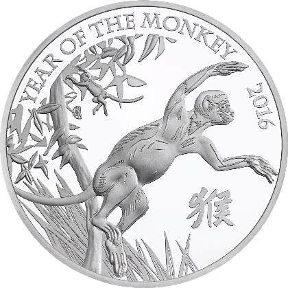 2 Pfund Silbermünze Jahr Des Affen Gb 2016 Münzen Günstigerde