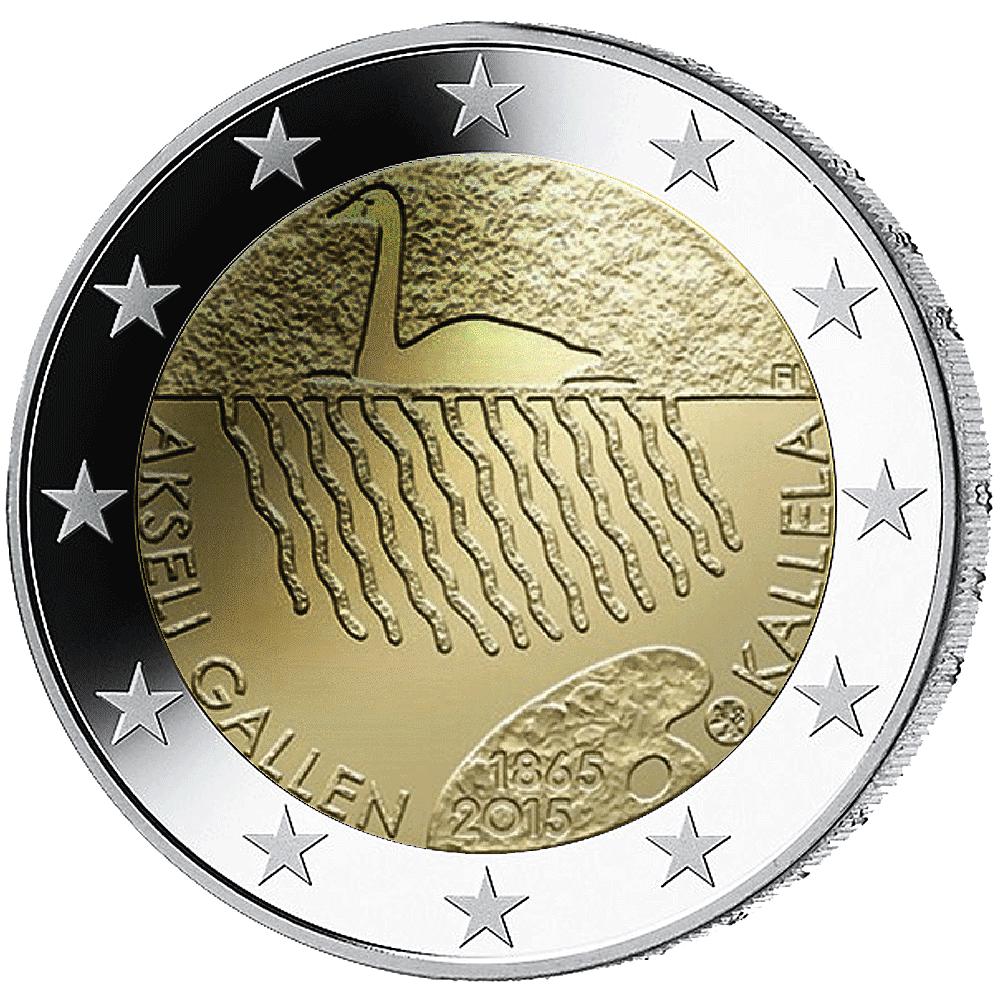 2 Finnland 2015 Akseli Gallen Kallela Finnland 2 Euro Münzen