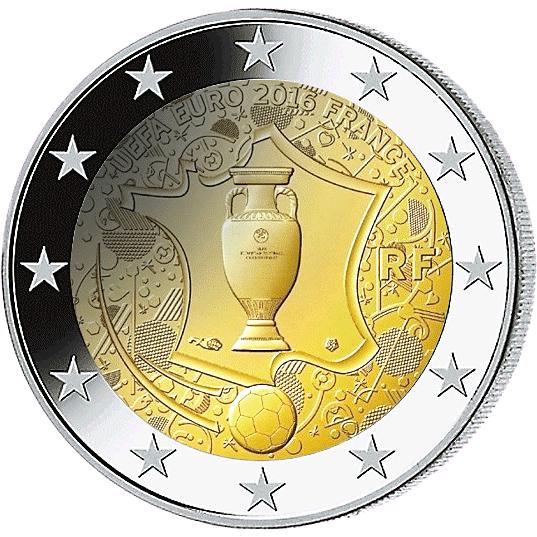 2 Frankreich 2016 Uefa Euro 2016 Frankreich 2 Euro Münzen