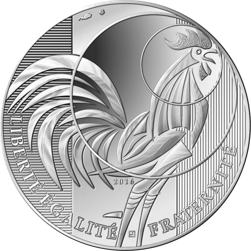 10 Euro Silber Frankreich Der Hahn 2016 Pp Frankreich Euro