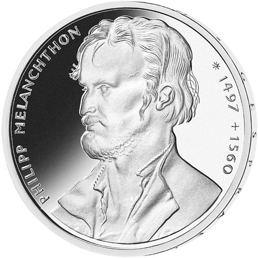10 Dm Silber Münze Philipp Melanchton 1997 10 Dm Münzen Dm