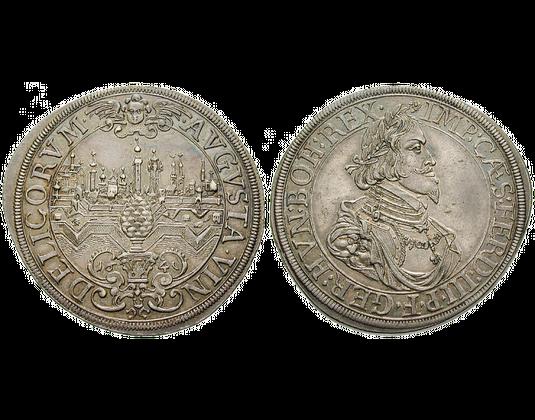 Altdeutschland Taler 1639 1645 Augsburg Stadtansicht Mdm