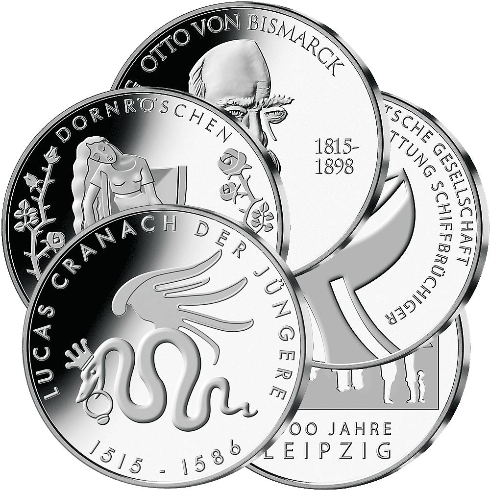 10 Euro Münzen Deutschland Münzen Günstigerde Münzen Günstigerde
