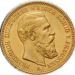 20 Mark Gold Prägung Des Dreikaiserjahres Mdm Deutsche Münze