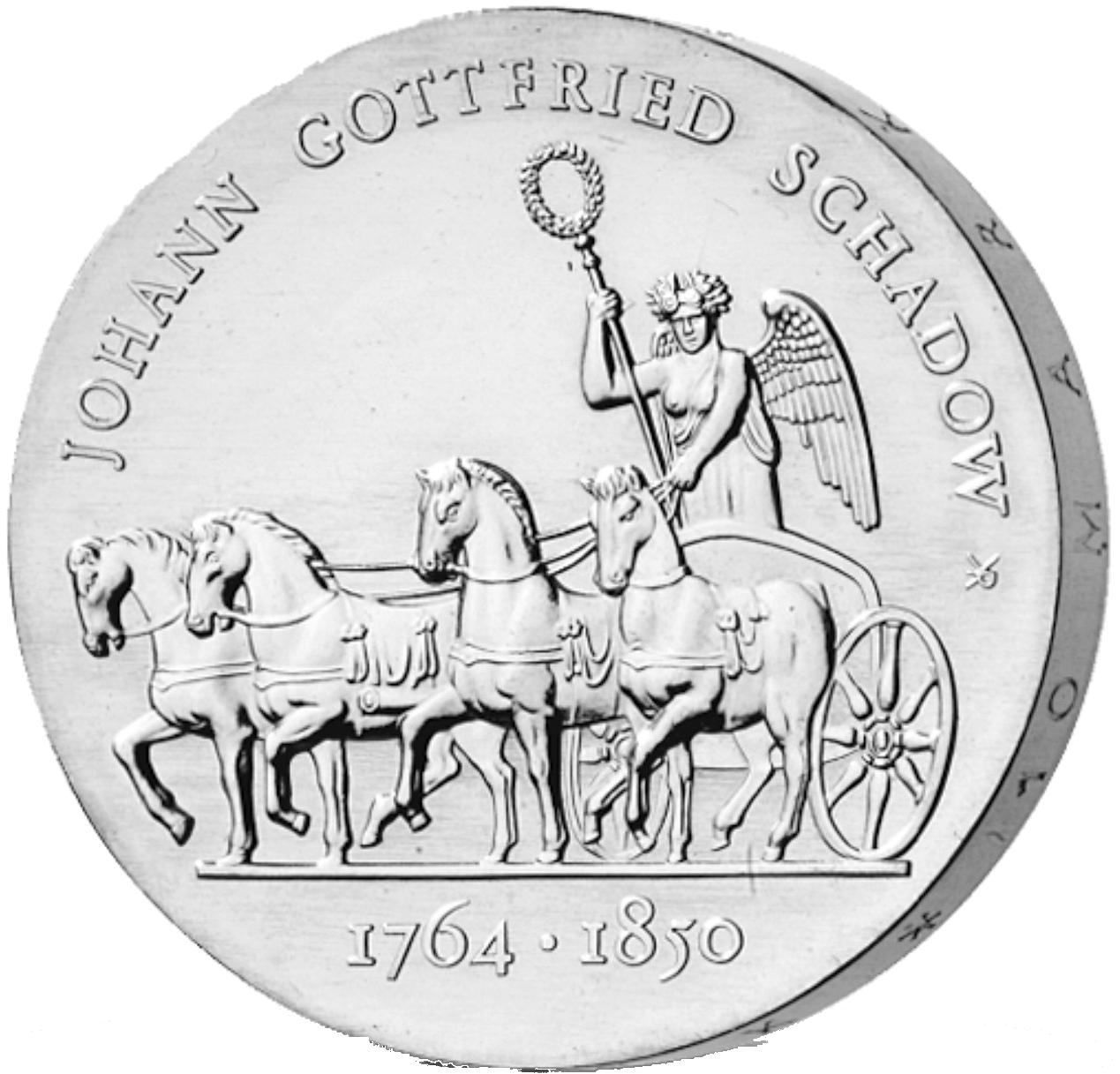 10 Mark Neusilber Schadow Ddr 1989 Münzen Günstigerde