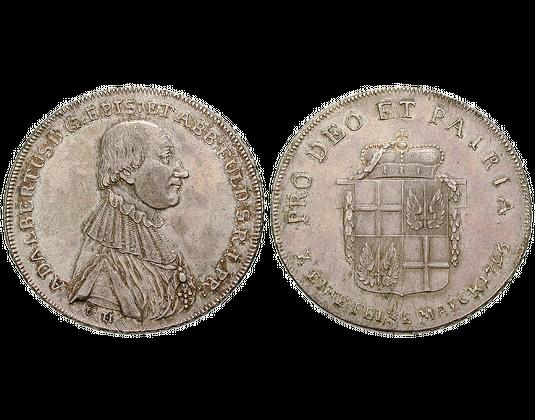 Altdeutschland Konventionstaler 1796 Adalbert Von Harstall Fulda
