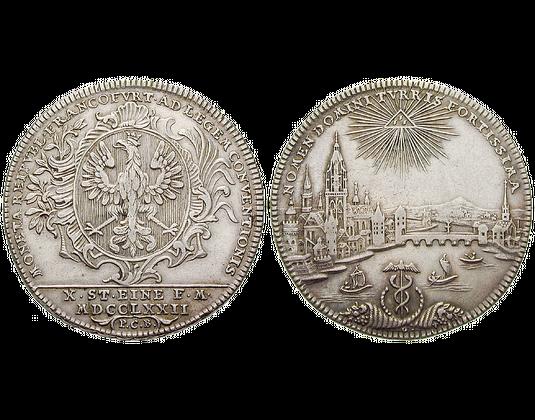 Altdeutschland Konventionstaler 1772 Frankfurt Stadtansicht