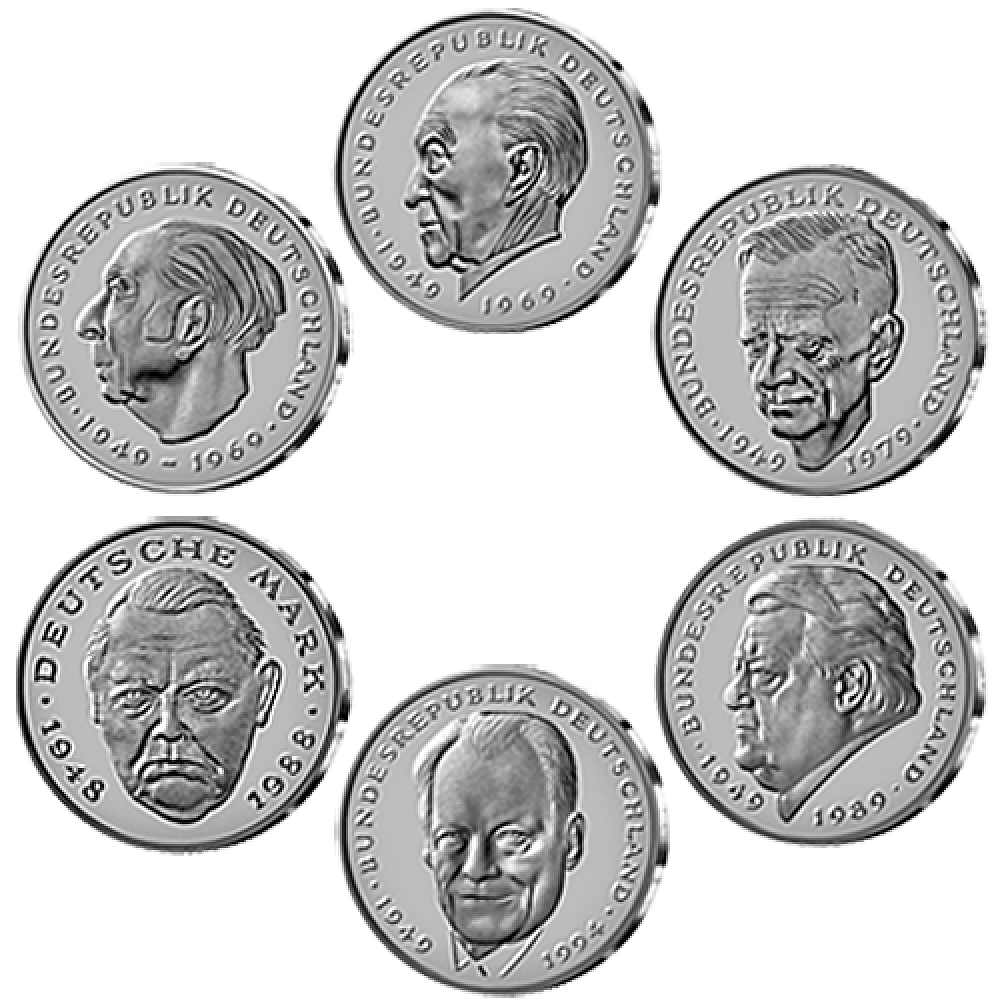 Große Politker Auf 6 X 2 Dm Münzen St 1969 2001 Münzen Günstigerde
