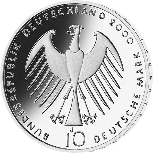 10 Dm Silber Münze Expo 2000 10 Dm Münzen Dm Münzen Deutsche